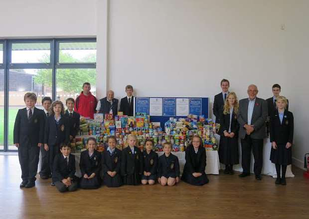Harvest festival at Wisbech Grammar