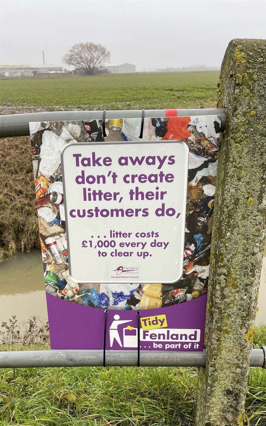 Fenland Council sign. (44279141)