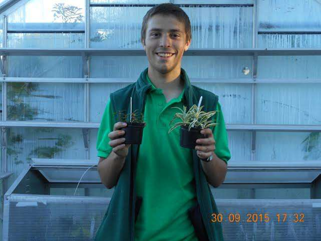 Peter Lickorish, apprentice at Manea School of Gardening
