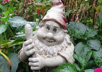 The mysterious garden gnome at Peckover House in Wisbech