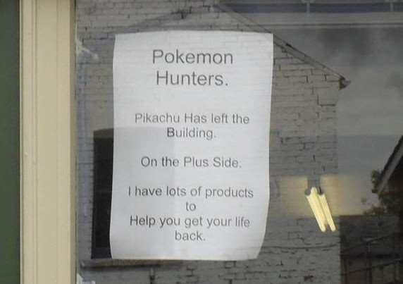 Whittlesey shop owner puts up sign to help Pokemon Go