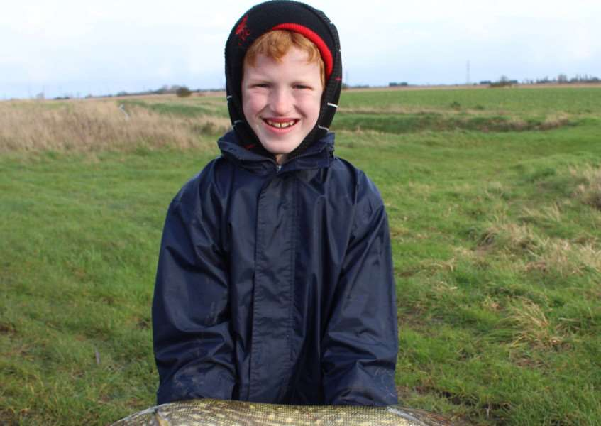 William Bates with a big pike taken from the North Level drain recently