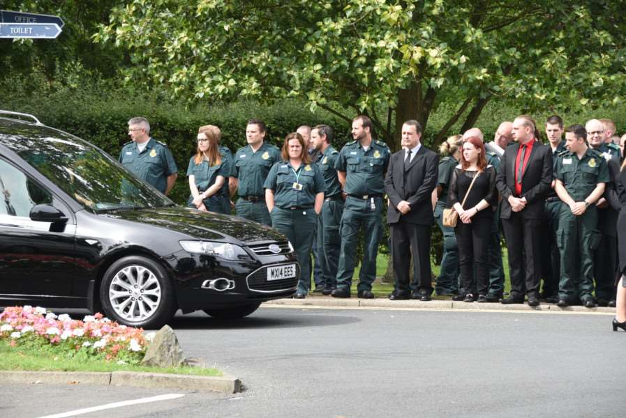 Emily Bull / Henderson funeral at Peterborough Crematorium EMN-150508-142532009