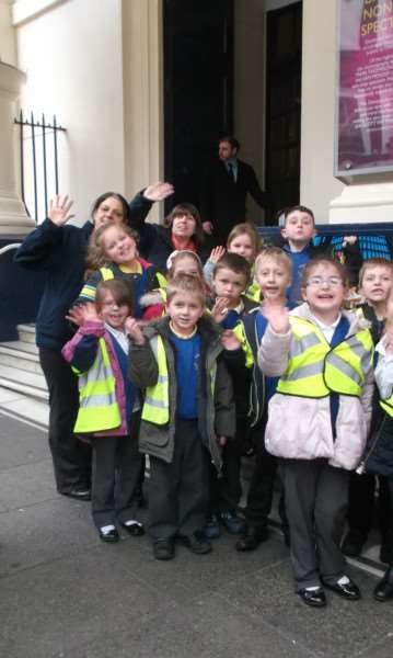 Youngsters from Anthony Curton Primary School, Walpole St Peter, and Tilney All Saints Primary School enjoy a trip to watch Charlie and the Chocolate Factory at London's Drury Lane.