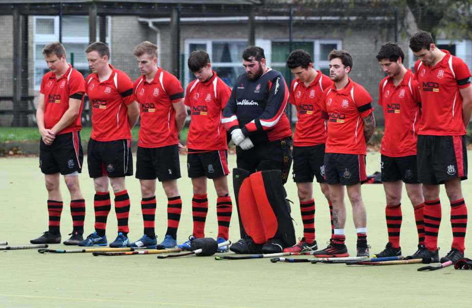 Wisbech Town v Waltham Forest Hockey one minutes silence held for Graham Ward