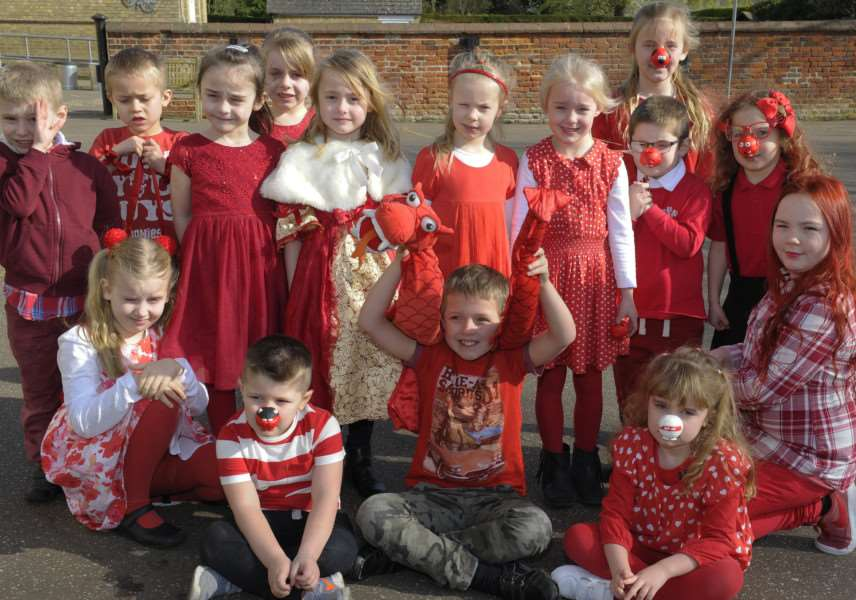 Top to Toe Red for Comic Relief at Upwell Academy