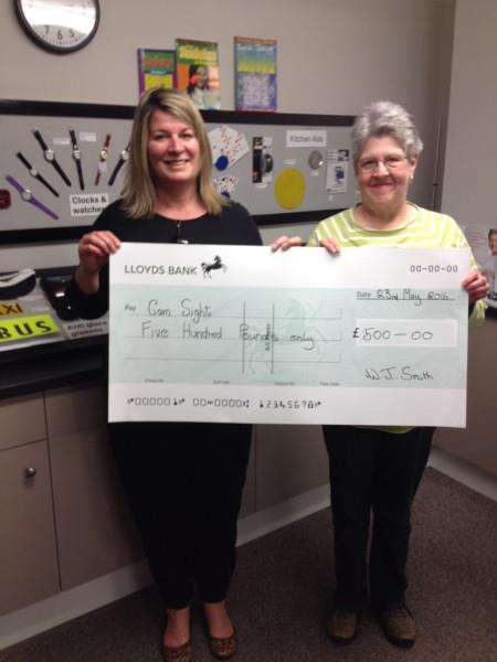 Dawn Preston (left) and Wendy Smith at Cam Sight's Low Vision Centre, Chatteris.