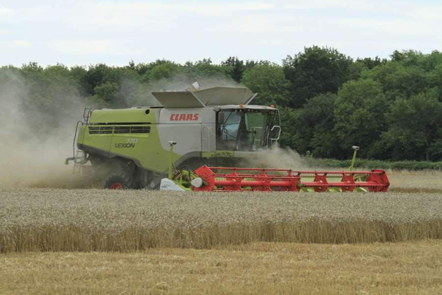 Harvest Time : Upper Benefield and Corby: combine harvester harvesting wheat. 'August 29th 2013 PNL-140704-124849001