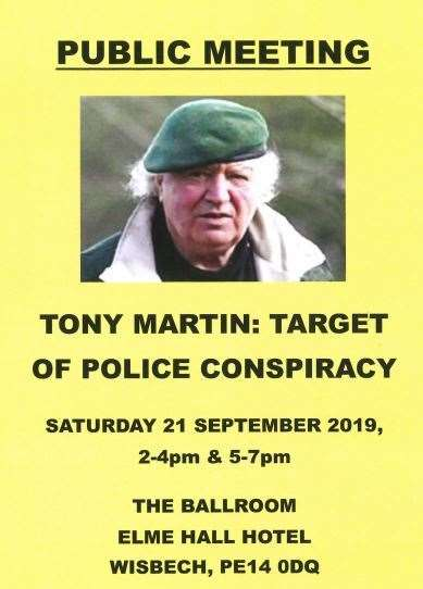 "A talk promises ""explosive"" new evidence in the notorious Tony Martin case. (16217421)"