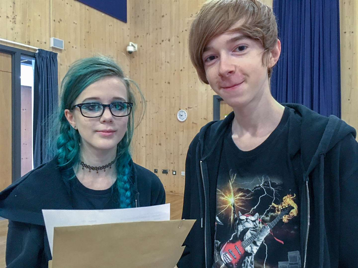 Eleanor Murray and Reece Page are celebrating their GCSE results and both are planning to stay at the Neale-Wade to do their A-levels. (3754680)