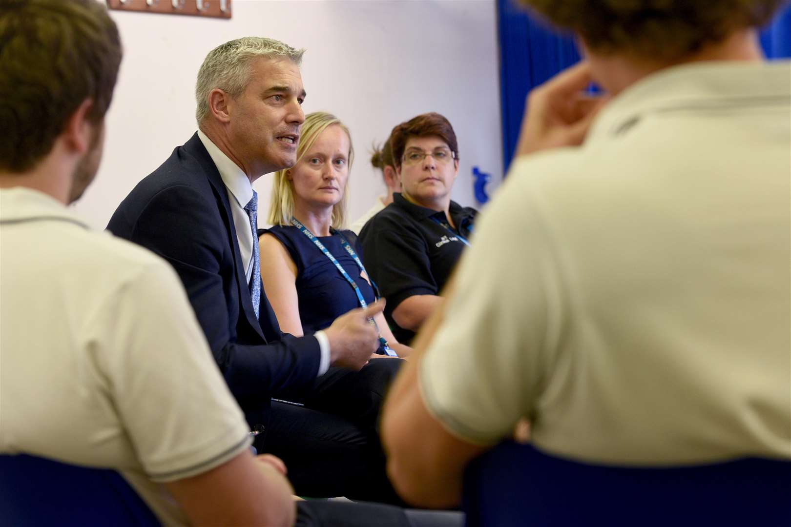 Steve Barclay ministerial vistit to North Cambs Hospital. (3501278)