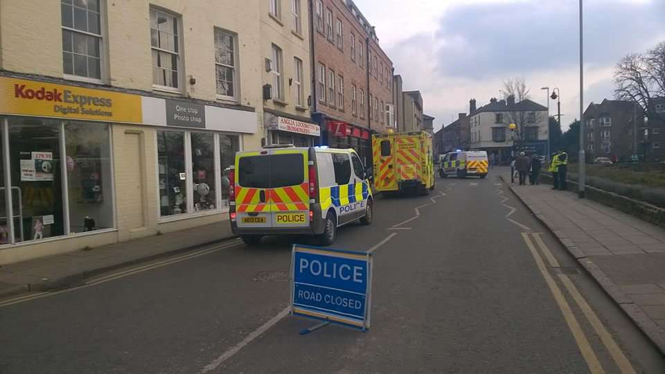 The scene of the hit and run in Wisbech at the weekend sPFoApjKxhbk3TVRp9Vz