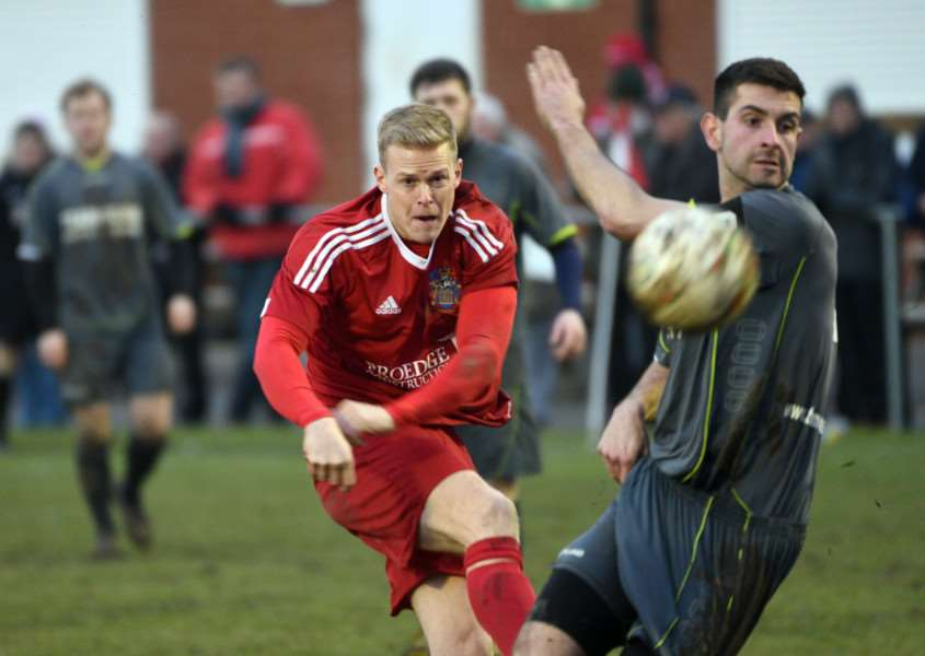 Wisbech v Sileby Rangers football action