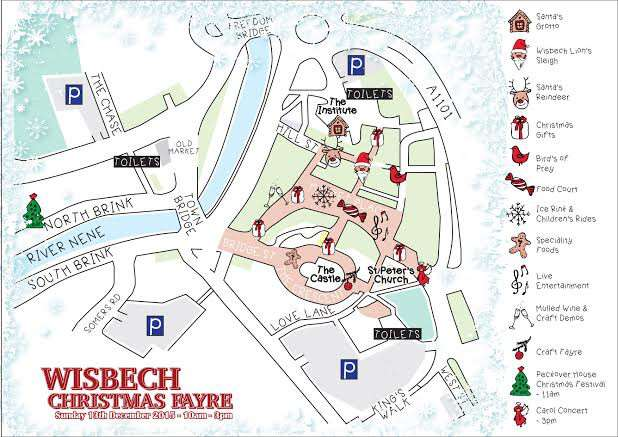 Map of the Wisbech town centre Christmas fayre