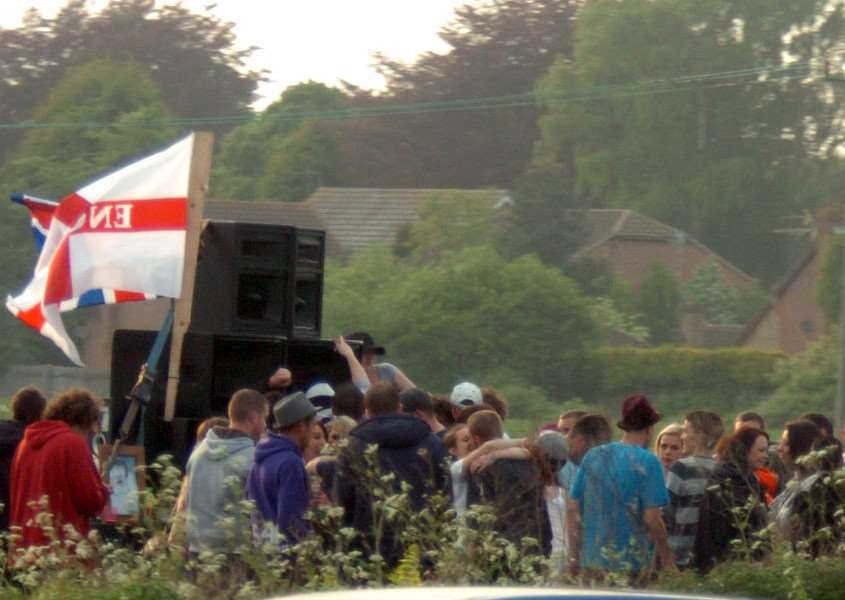 A previous rave held just off the A47 near Wisbech ENGANL00120110430110744