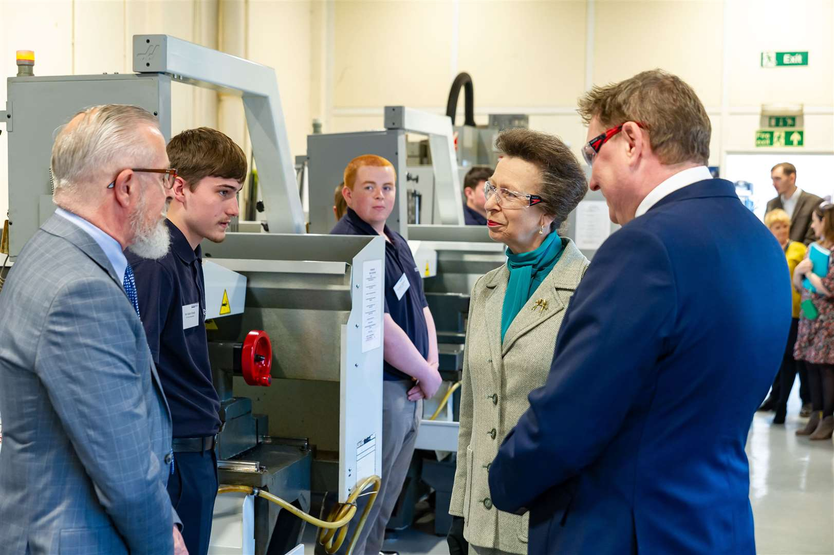 Princess Anne chats to one of the apprenticeship leaders. (8155791)