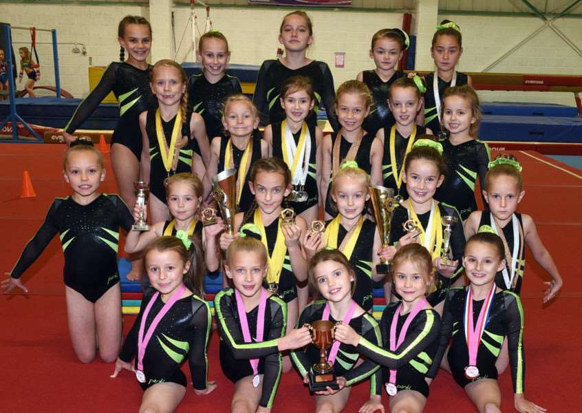 Fenland Gymnastic Club with their latest haul of medals
