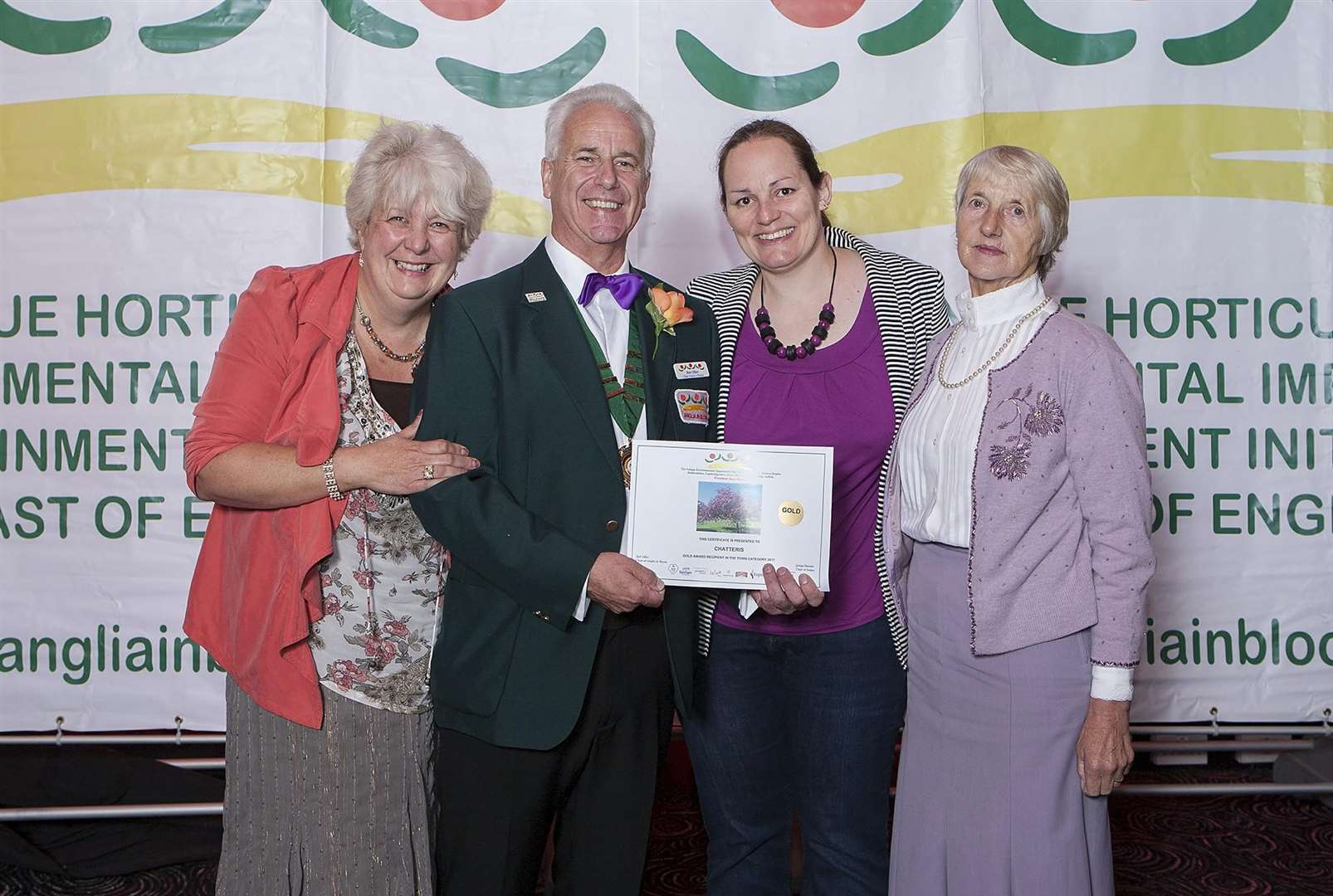 Chatteris is celebrated a Gold award. (4157870)
