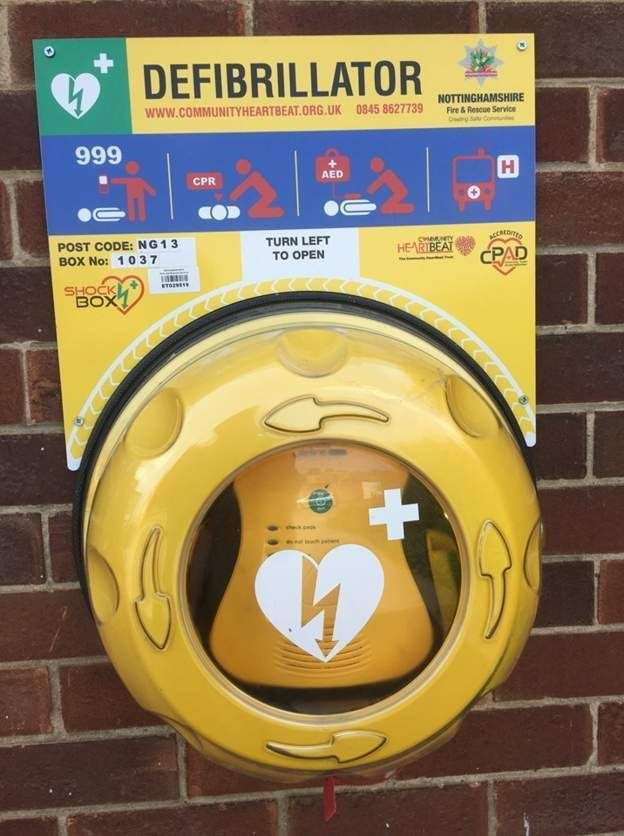 Group are hoping to buy a third defibrillator for town.