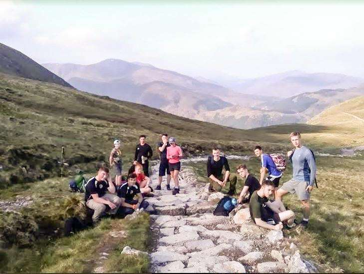 Students on their way up Ben Nevis. (2501110)