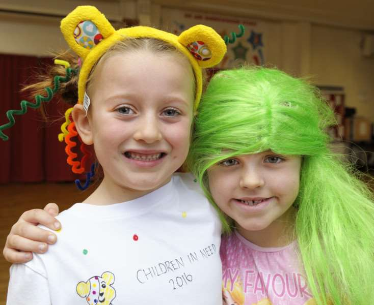 Burrowmoor Primary School in March, 'Pupils involved in the crazy hair day for Children In Need Appeal ANL-161118-154235009