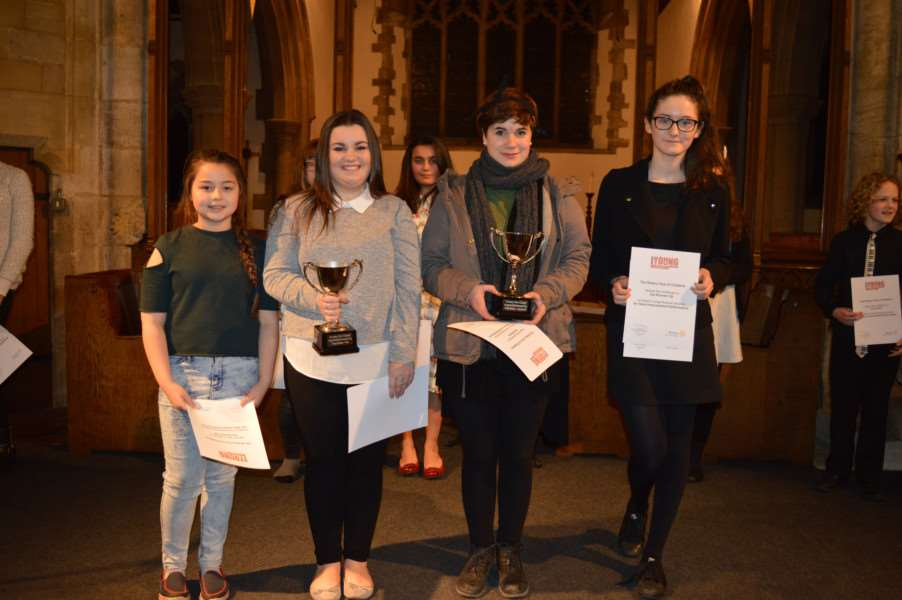 Chatteris Young Music Competition winners. Pictured, from left, are Megan Morrissey, Erin Powley, Julia Edlinger and Bonnie Scott.
