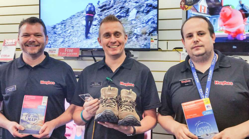 From left: David Youngs, Stephen Holt and Adam Gray who are tackling Mount Snowdon for charity.