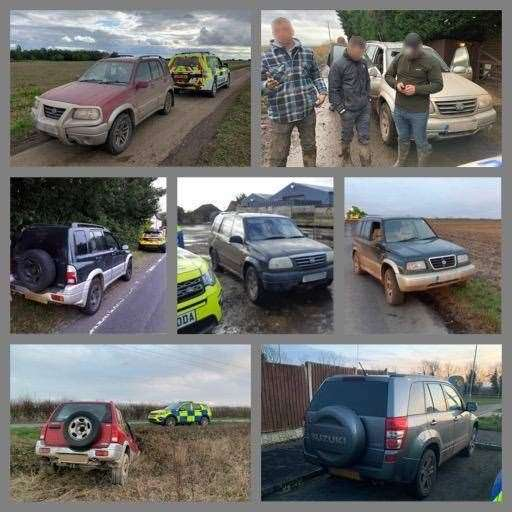 Police gave a tongue in cheek countdown of the top cars seized from hare coursers this season. (31708070)