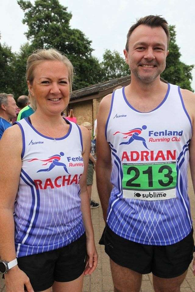 Rachael Nicholls and Adrian Searle at sublime 10K. (13247466)