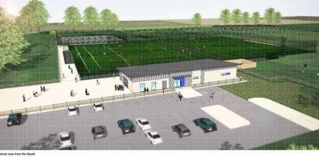 An artist's impression of what the new pavilion at Estover Playing Field might look like.