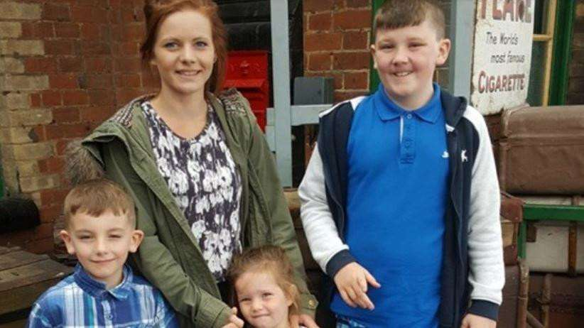 Jayne Denby's family: daughter Meghan, 23, sons Daniel, 13 and Alex 9 and her granddaughter can all stay together after she has gone.