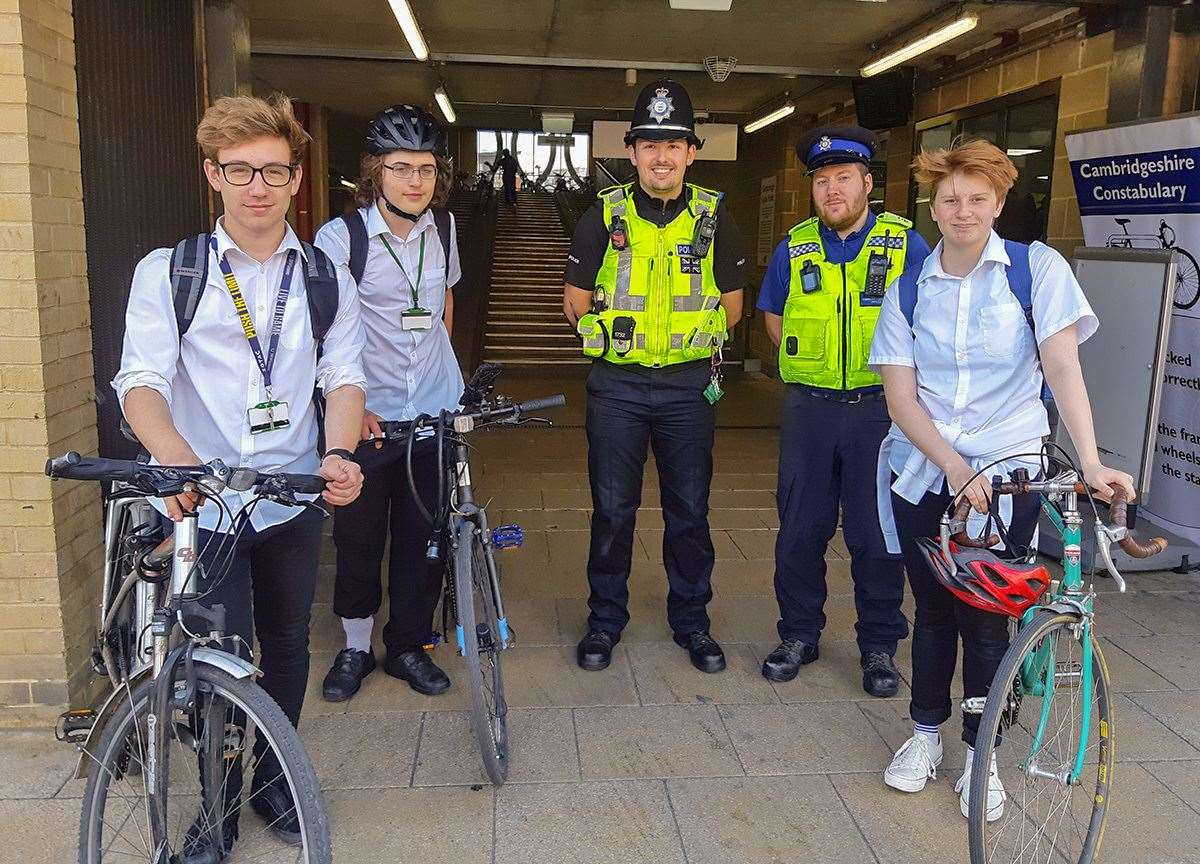 Hundreds take part in crime prevention day which included bike marking. (11525038)