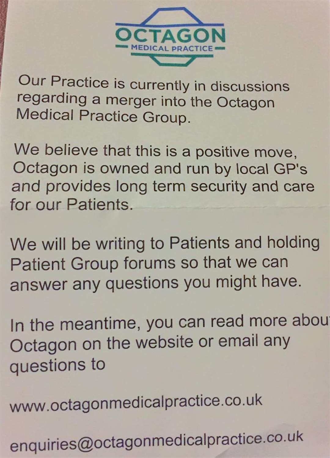 The Clarkson Surgery in Wisbech is set to merge with practices in Peterborough and Huntingdon. (6686748)