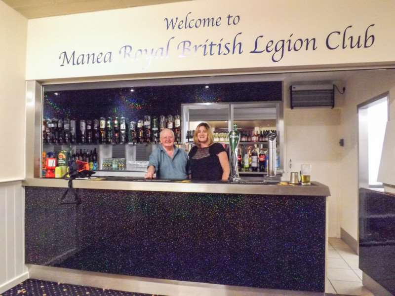 Manea Royal British Legion Club chairman Paddy Painter with bar manager Sheila Edwards behind the newly refurbished bar area.