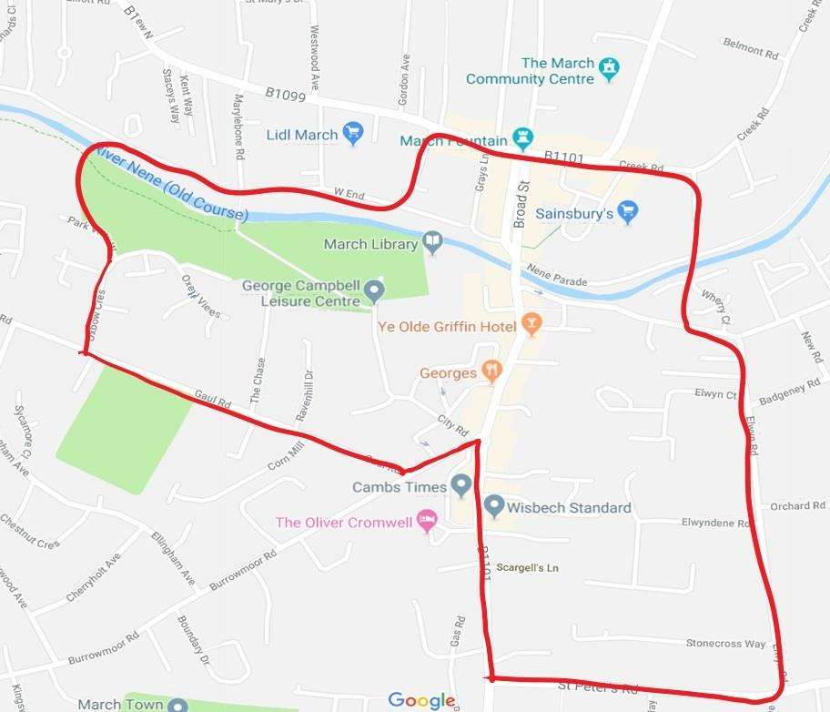 A dispersal order is in place in March to stop anti-social behaviour. (7382639)