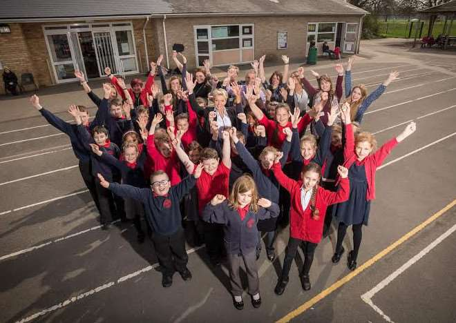 Peckover Primary School celebrates Ofsted
