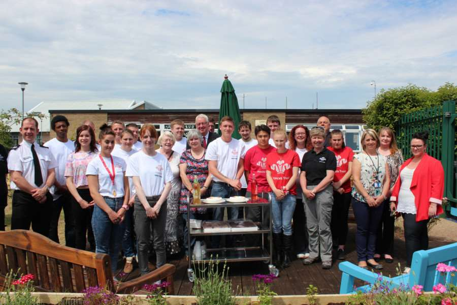A team from the Prince's Trust Team Programme spruce up the Oasis Centre in Wisbech.