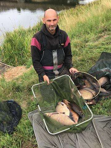 Andrew Kilby, Sunday's Tydd Gote winner with his bream net. (3559900)