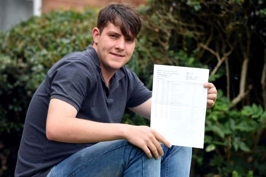 Thomas Wayman scoops two As in chemistry and maths and a B in physics from the Cromwell Community College in Chatteris.