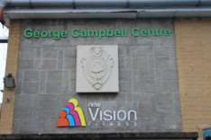 The new sign at the George Campbell Leisure Centre