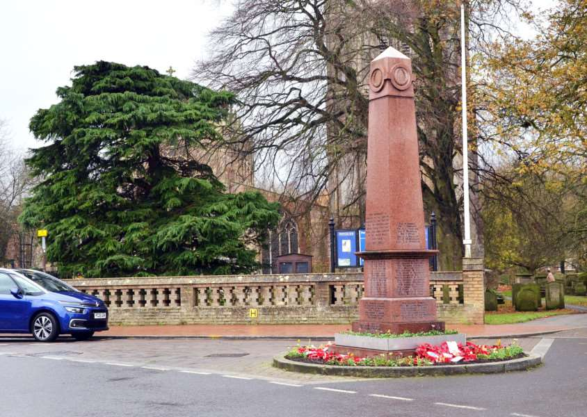 TREE REVOLT: Parish councillors have signalled their readiness to put Long Sutton's traditional Christmas tree back beside the War Memorial in Market Place, instead of using a conifer tree (pictured) outside St Mary's Churchyard. Photo by Tim Wilson. SG291117-101TW.