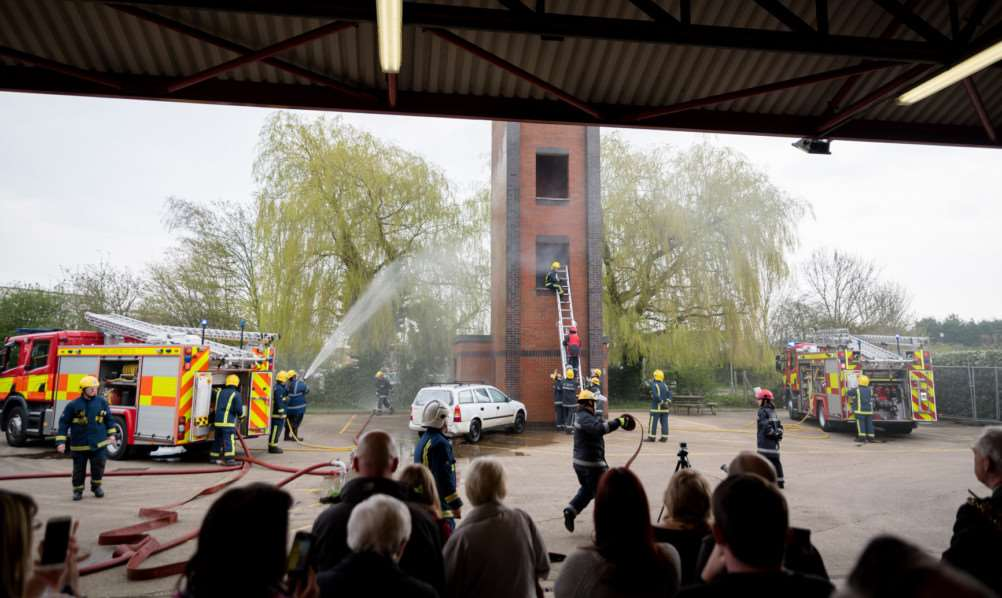 Princes Trust Passing Out Parade at Wisbech Fire Station. ANL-160414-214901009