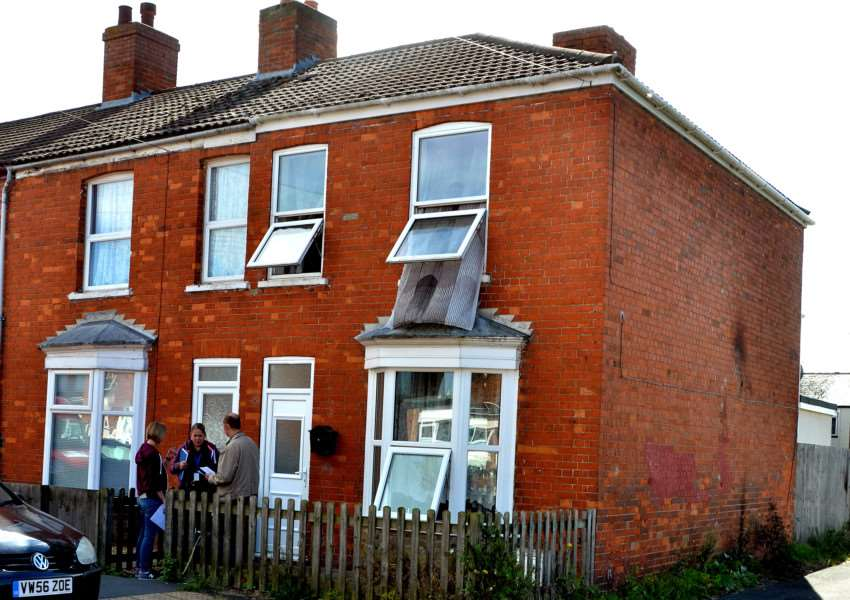 A fire at this house in Prince's Street, Sutton Bridge, on Sunday is being treated as arson by police.