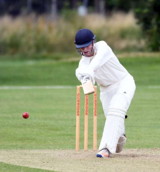 Wisbech V Grantham cricket action in Rutland League