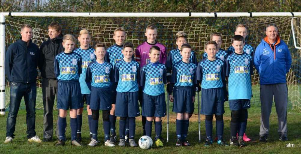 March Soccer School U14 pictured in their new kit kindly sponsored by MKM Building Supplies.