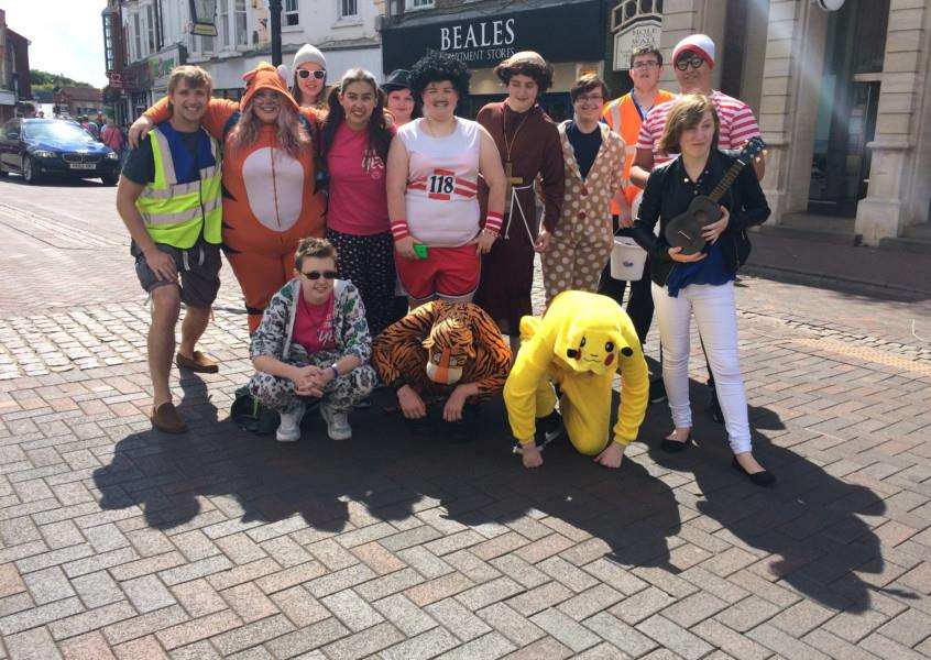 Teenagers on National Citizen Service who went on a four-day street collection in Spalding town centre for Welcome2OurWorld, a Wisbech-based charity helping families affected by autism.