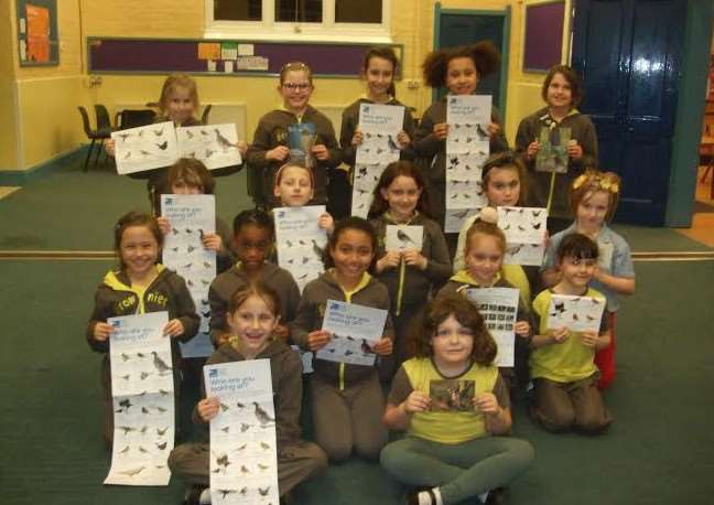3rd Wisbech Brownie Unit took part in bird watch