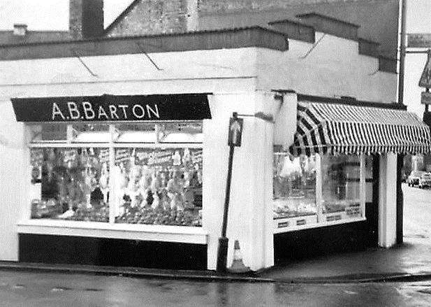 LONG SUTTON PAST: Bartons Butchers as it was in the 1960s. Photo supplied by Judy Sadd.