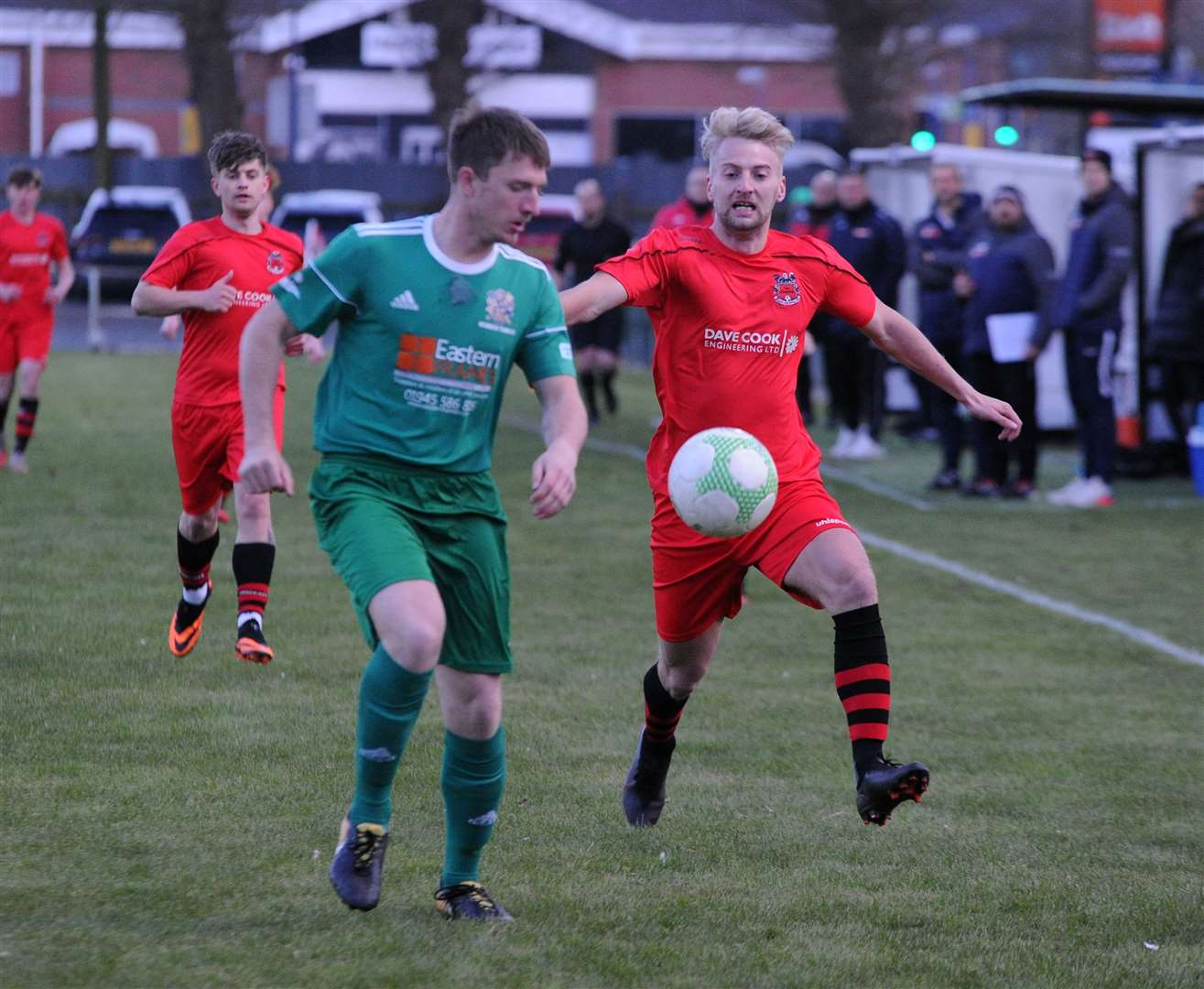 Match action from Pinchbeck's friendly with Wisbech. Photo: Chris Lowndes (46161277)