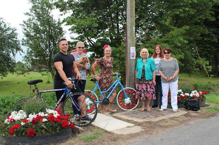 Liking biking: (left to right) Benwick In Bloom members Ashley Flowerday, Valerie Gobie, Tracy Phillips, Jill Hindle, Katie Allen, Pat Cuthbert